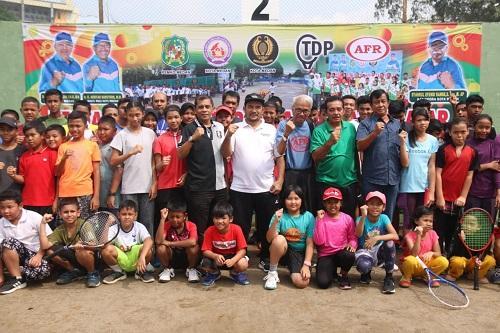 80 Atlet Tenis Bertanding Di Kejurnas Tenis Antar Pelajar Piala Wali Kota Medan